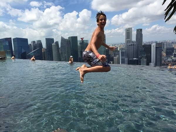 person jumping into MBS
